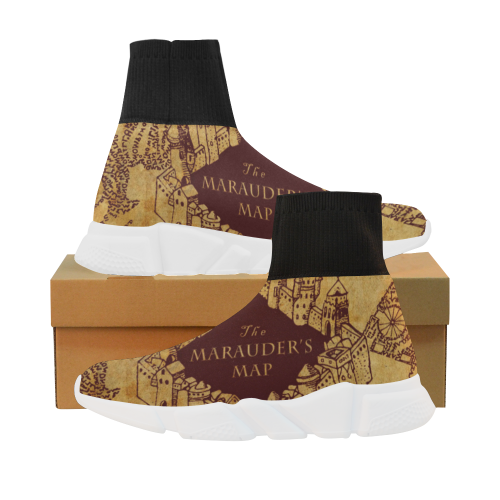 Marauder Map Stretch Sock Men's Shoes