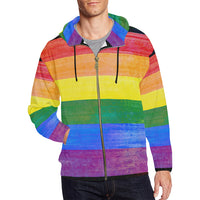 Men All Over Print Full Zip Hoodie