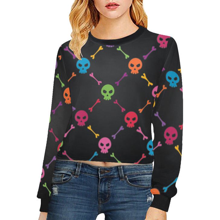 Women's Cropped Pullover Sweatshirts