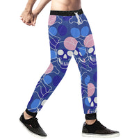 Sugar Skull Mens Gym Baggy Slacks Pants - Perinterest
