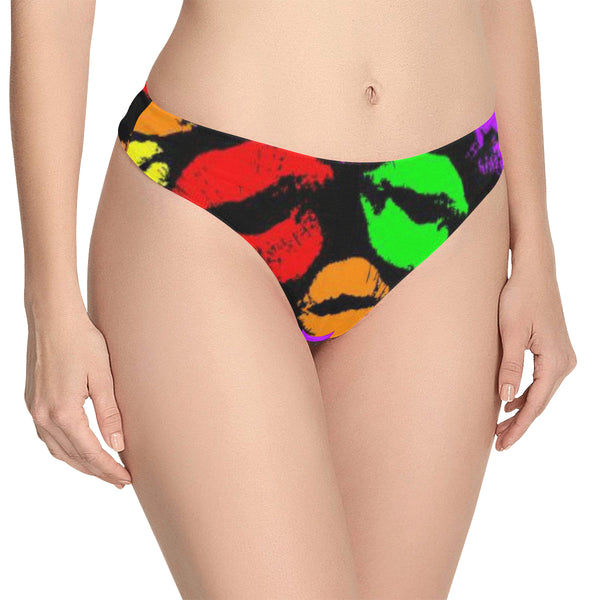 Women's All Over Print Thongs