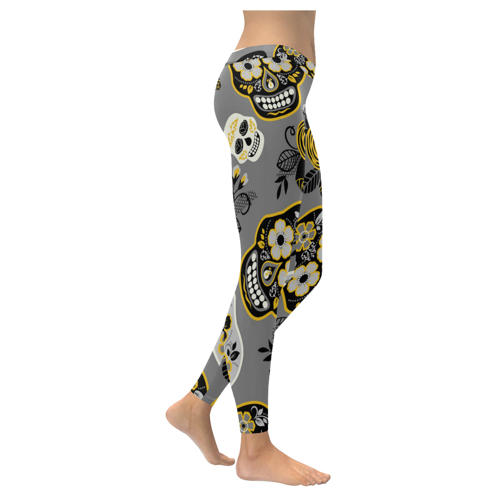 Day of The Dead Women's Fitness Low Rise Leggings - Perinterest