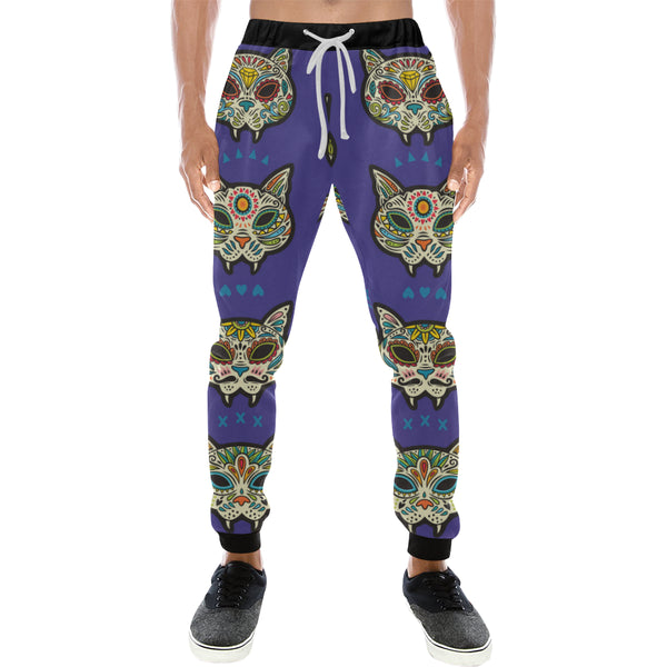 Sugar Cat Skulls Mens Gym Baggy Slacks Pants - Perinterest