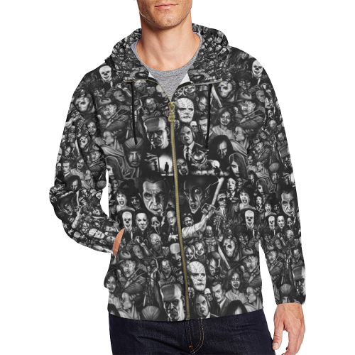 Horror Heads Zip Hoodie for Men