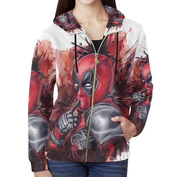 All Over Print Full Zip Hoodie for Women