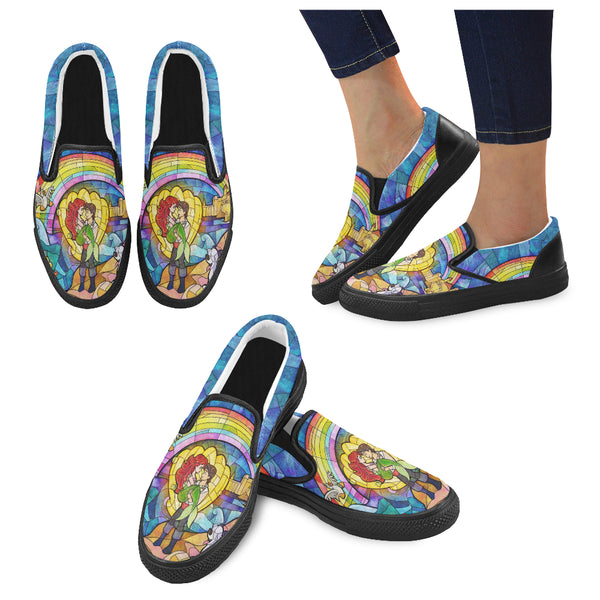 Mermaid on Land Women Slip-on Canvas Shoes