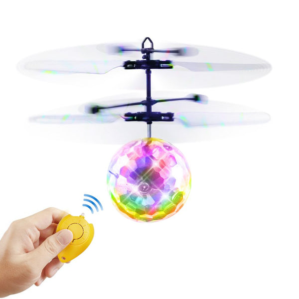 Flying Ball Toys RC Toy for Kids Gifts Rechargeable Light Up Ball Drone Infrared Induction Helicopter with Remote Controller