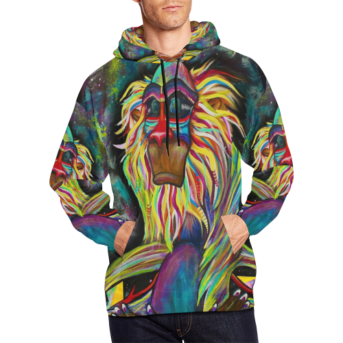 Meditating Rafiki Hoodie for Men