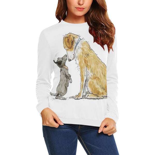 All Over Print Crewneck Sweatshirt for Women