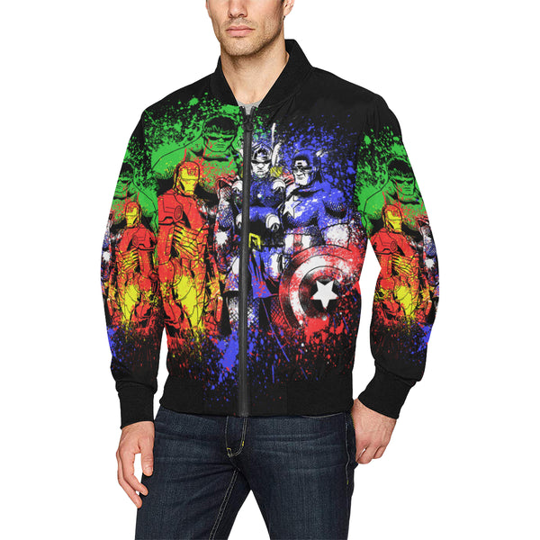 All Over Print Bomber Jacket for Men