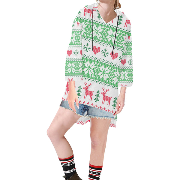 Women V-neck Hoodie Boho Style Deer - Perinterest