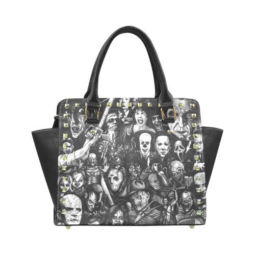 Horror Heads Rivet Shoulder Handbag