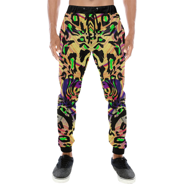 Leopard Print Mens Gym Baggy Slacks Pants - Perinterest