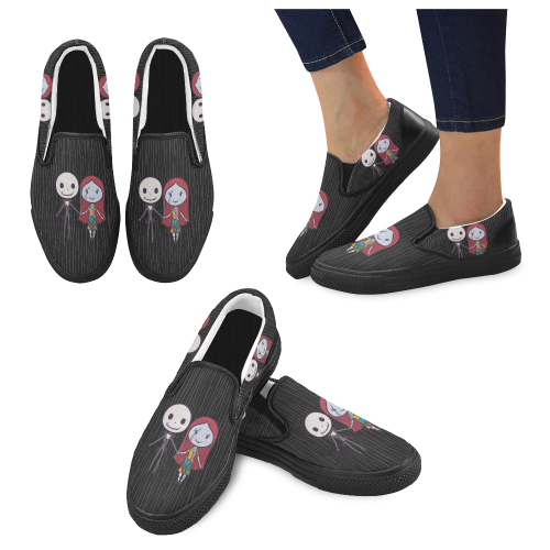 Couple of Bad Dreams Men Slip-on Canvas Shoes