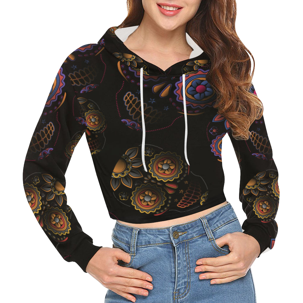 Women's All Over Print Cropped Hoodie