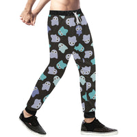 Happy Ghosts Mens Gym Baggy Slacks Pants - Perinterest