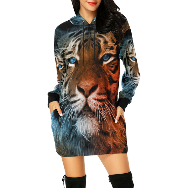 All Over Print Hoodie Mini Dress (H27)