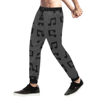 Music Notes Mens Gym Baggy Slacks Pants - Perinterest