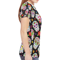 Women's All Over Print?Mesh Cloth?T-shirt