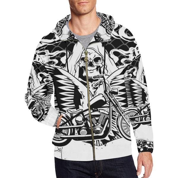 All Over Print Full Zip Hoodie for Men