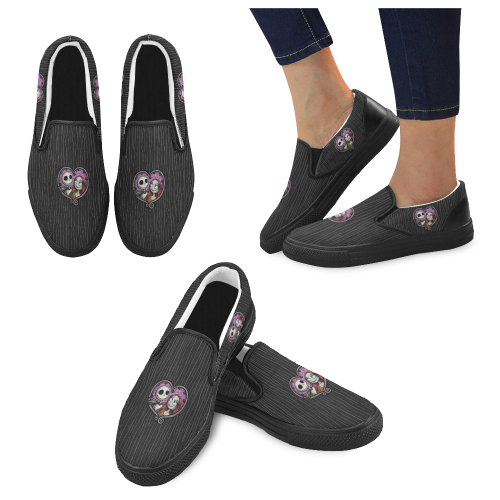 Jack and Sally Men Slip-on Canvas Shoes