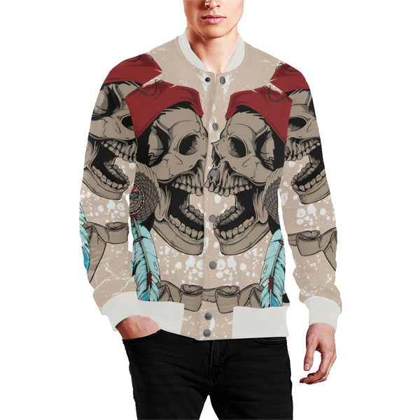 Men's Baseball Jacket Indian Style Skull Snake - Perinterest