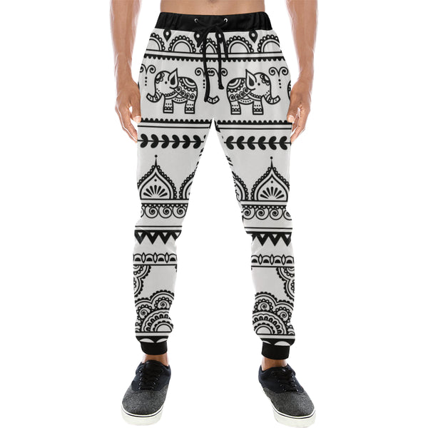 Indian Henna Tattoo Elephants Mens Gym Baggy Slacks Pants - Perinterest
