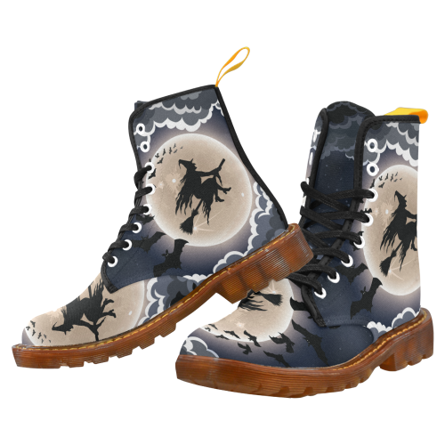 Halloween Witch Lace Up Martin Boots for Women
