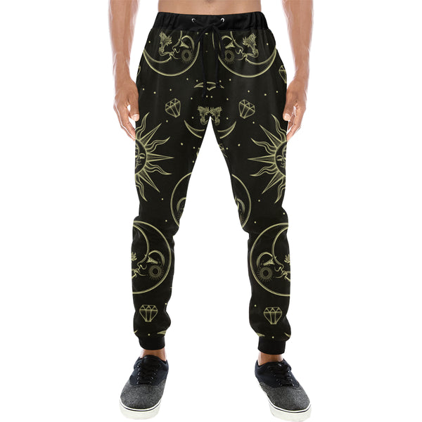 Sun Moon and Stars Mens Gym Baggy Slacks Pants - Perinterest