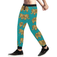 Indian Elephant Mens Gym Baggy Slacks Pants - Perinterest