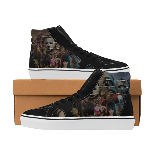 Villain Heads  Men High Top Skateboarding Shoes