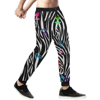 Zebra Mens Gym Baggy Slacks Pants