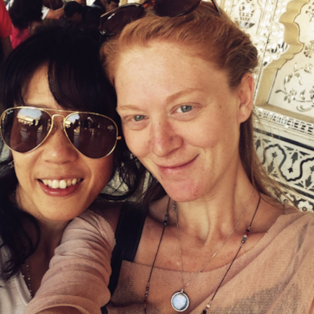 Fumie and Rachel in Amber Fort
