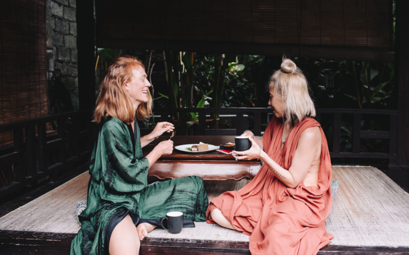 Business Partners Cake Bali Kimono Maxi Dress Girlfriends Holiday