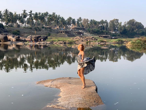 Maxinne Bjork Modeling in Hampi River