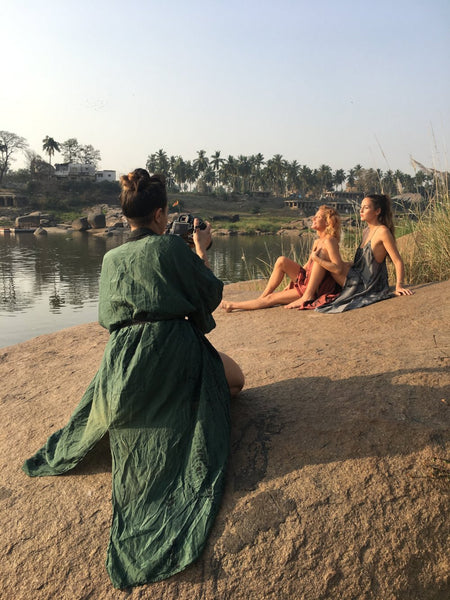 Photo Shooting at River in Hampi
