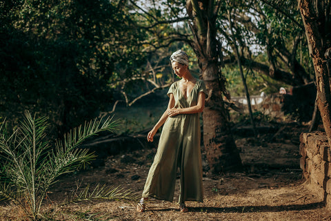 Jumpsuit Hemp holiday ss19 goa boho chic earthday sustainable fashion