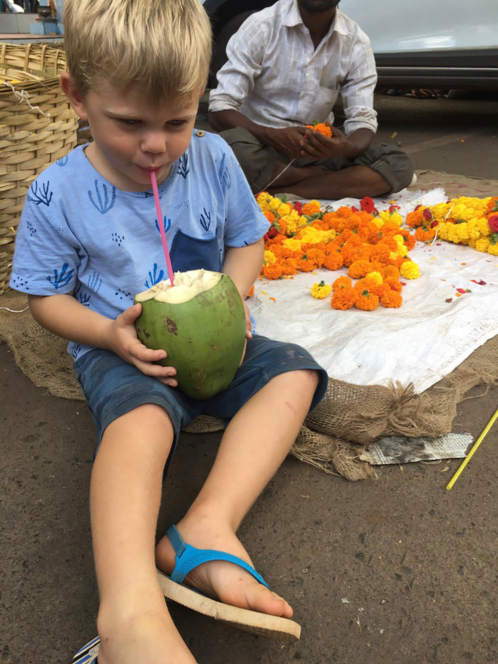 Coconut kid goa market