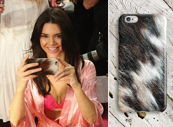 Kendall Jenner faux fur phone case