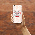 Happy Red Glasses Cat - DesignoCase