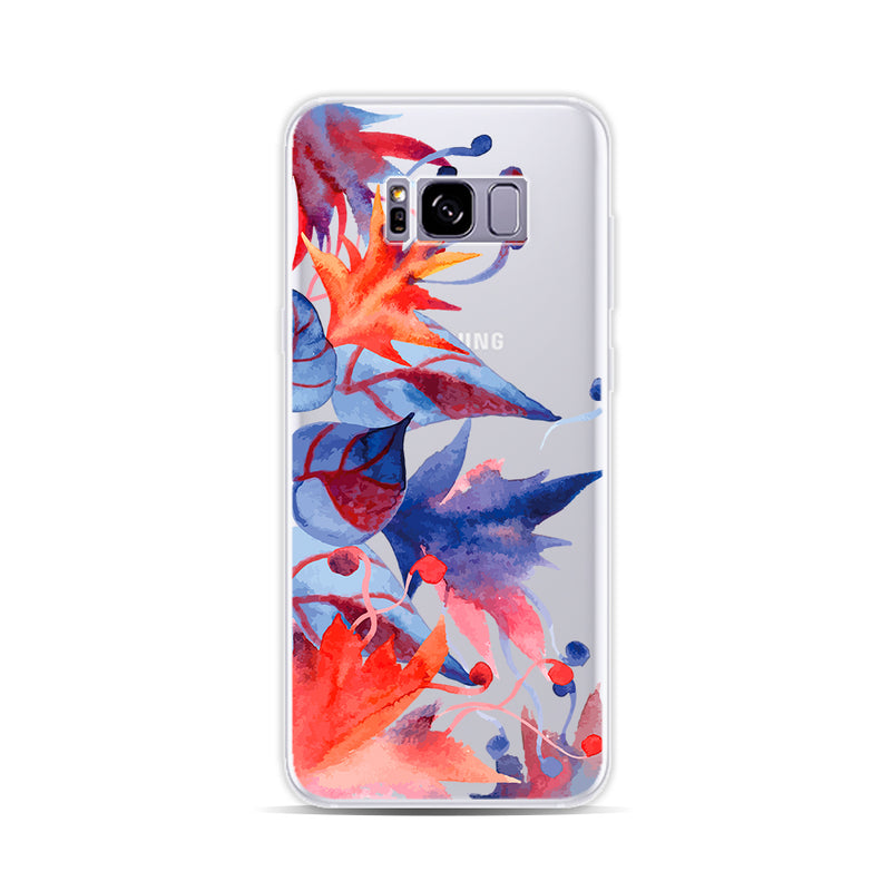 Blue and Red Leaves - DesignoCase