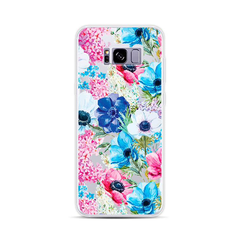 Blue and Pink Flowers Customized phone cases - DesignoCase