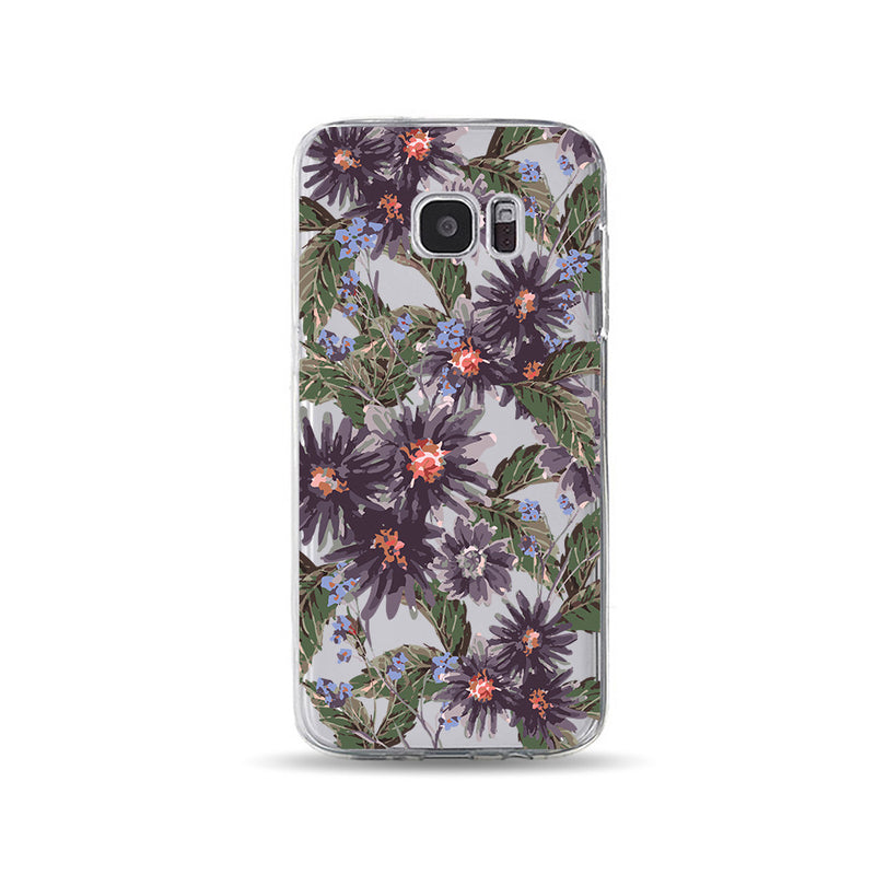 Dark Purple Flowers - DesignoCase