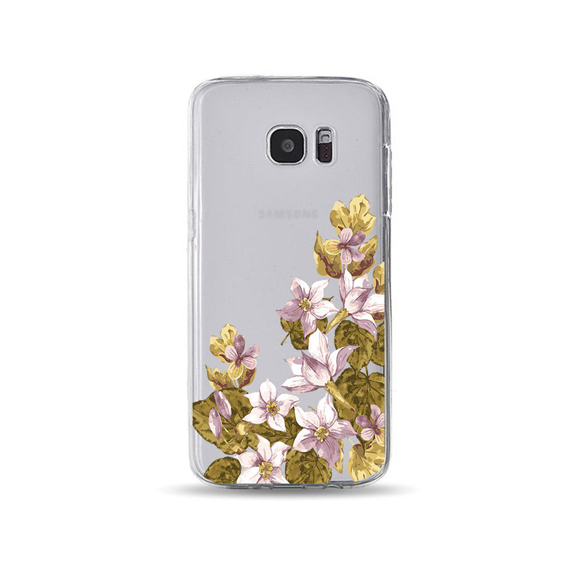 Purple Flowers and Leaves - DesignoCase