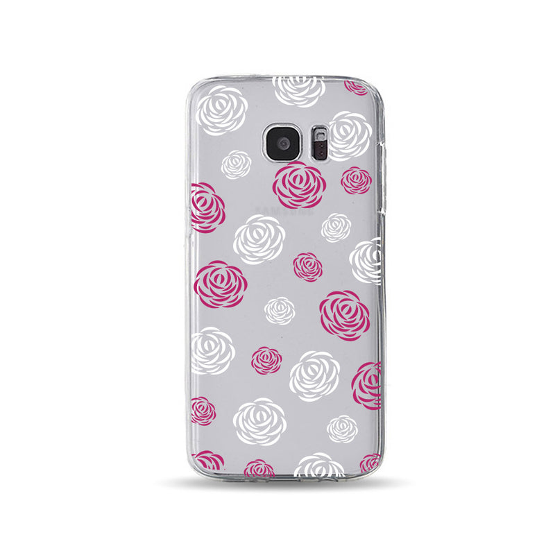 Purple Red and White Rose Floral - DesignoCase