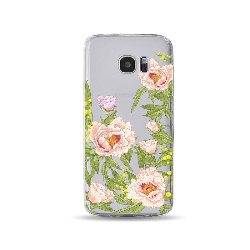 Pink Flower and Green Leaves - DesignoCase