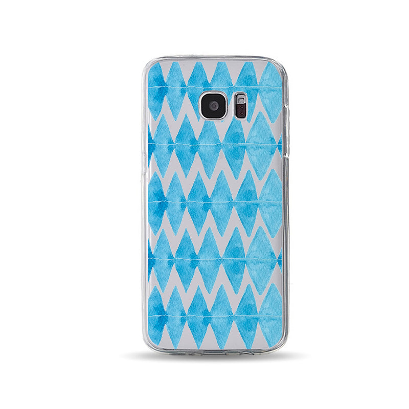 Blue Rhombus Hand in Hand Cool phone cases - DesignoCase