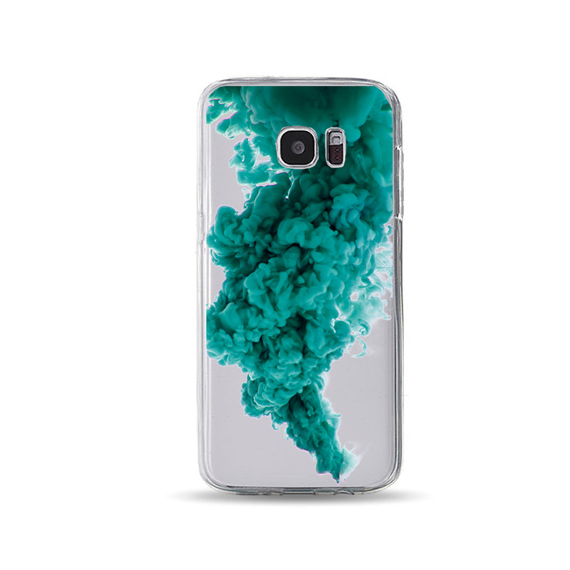 Bluish Green Paint in Water Cool phone cases - DesignoCase