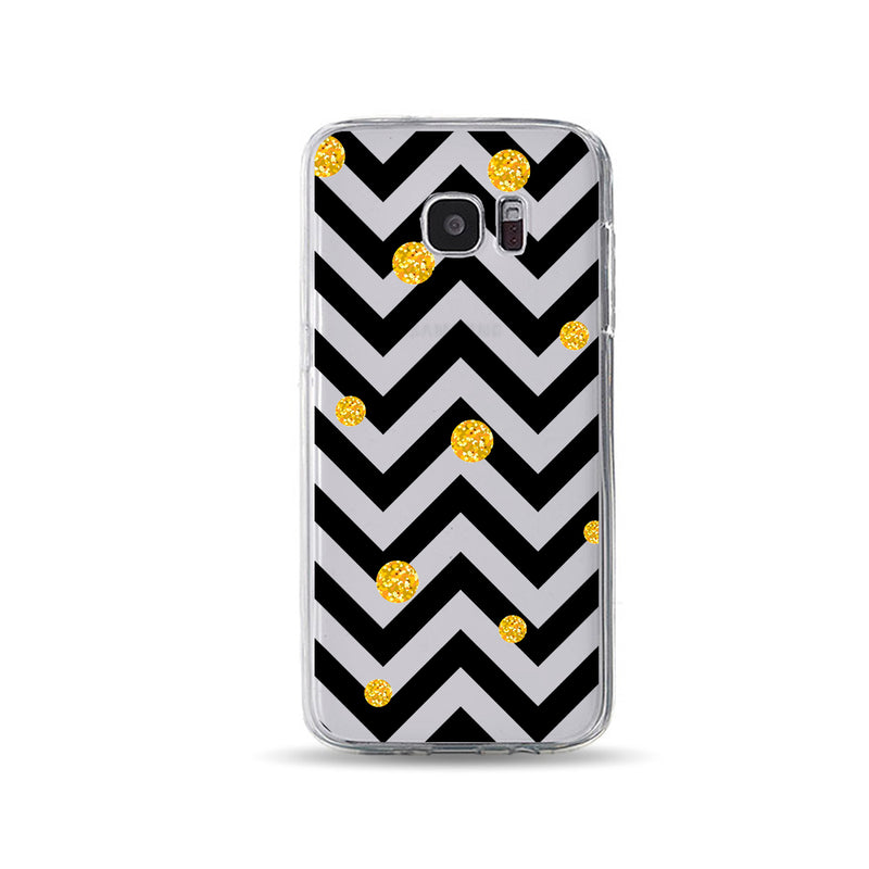 Golden Balls and Black Zigzag - DesignoCase