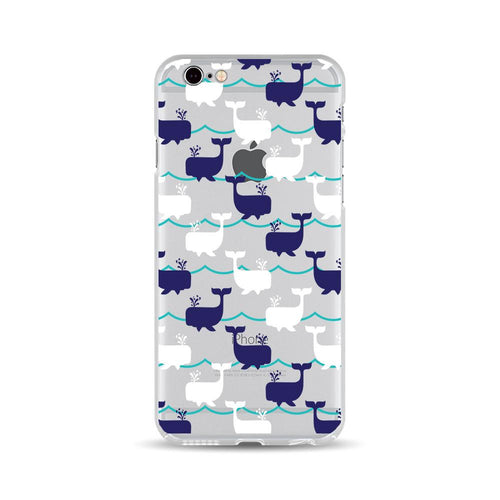 Navy and White Whales - DesignoCase